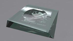 ashtray glass award 3d model