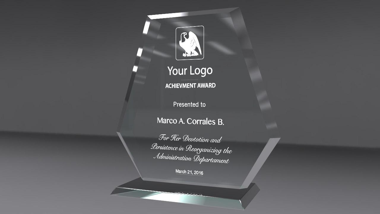 glass award obj