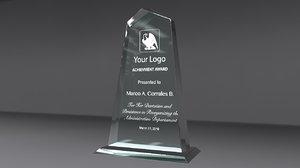 3d alfa glass award