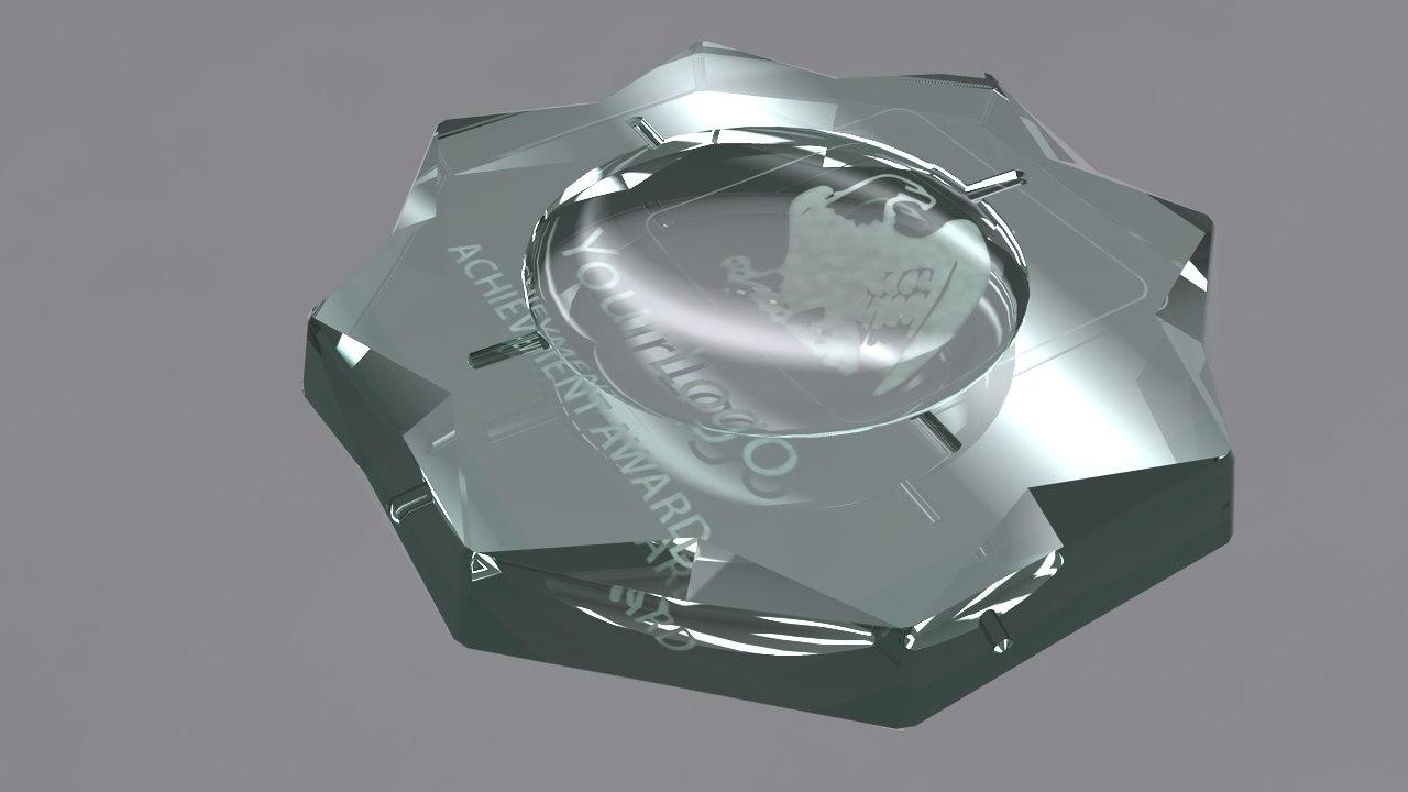 ashtray award 3d obj