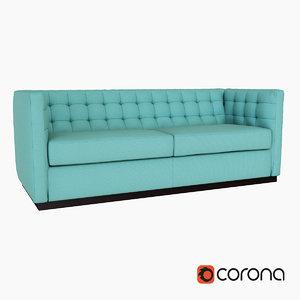 3d sofa west elm model
