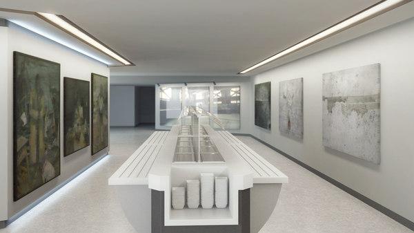 dxf canteen interior scene