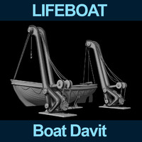 3d boat lifeboat
