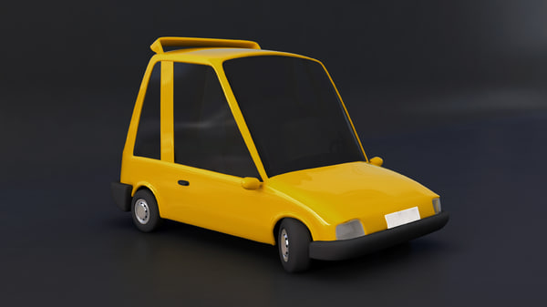 fbx cartoon car