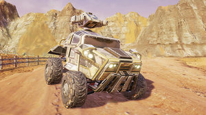 3d futuristic military vehicle model