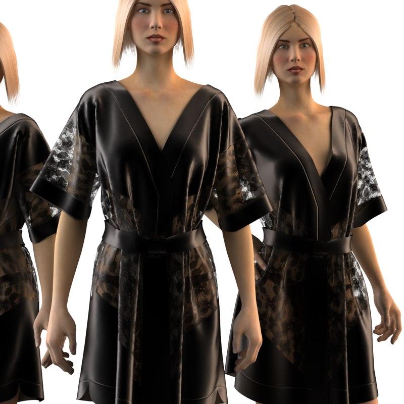 3d mannequin silk model