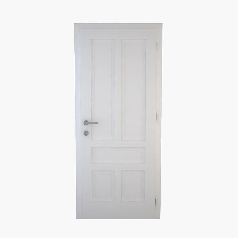 door doorframe frame 3d 3ds