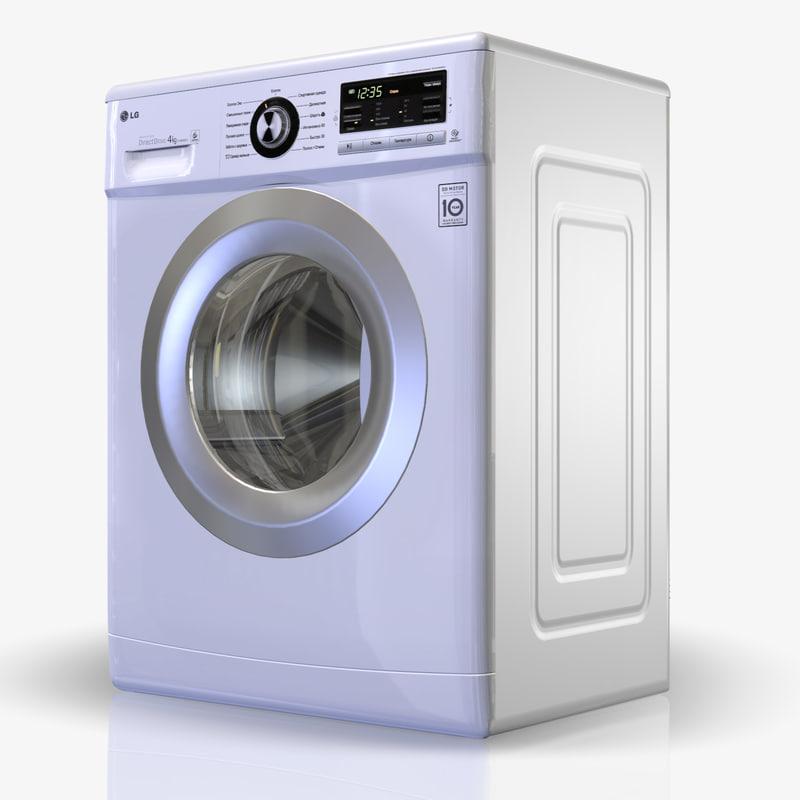 3d washingmachine lg f1039nd3 model