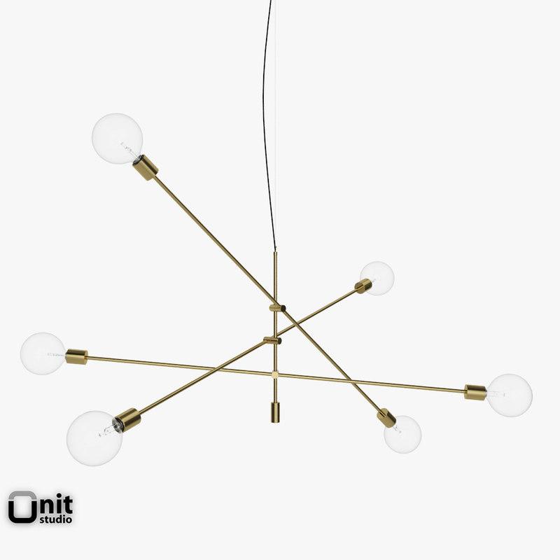 mobile chandelier grand pendant light 3d model