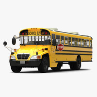 school bus 2 simple 3d model