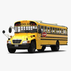 school bus 2 simple 3d model