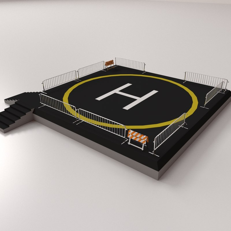 3d helipad pad