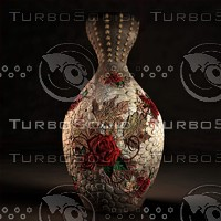 flourish stone vase 3d model
