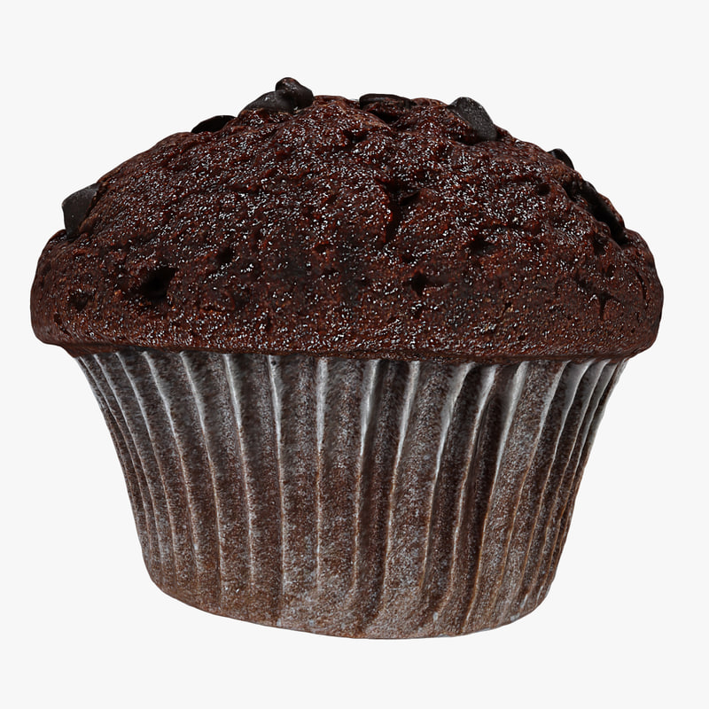 3d max chocolate chip muffin
