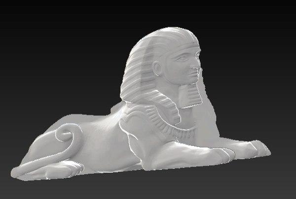 relief sphinx obj