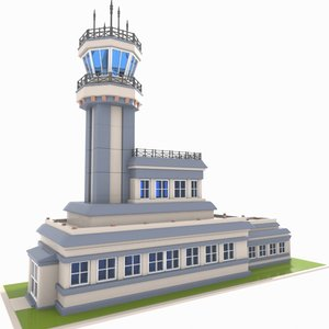 3d model air traffic control