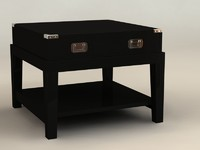 3d model table military
