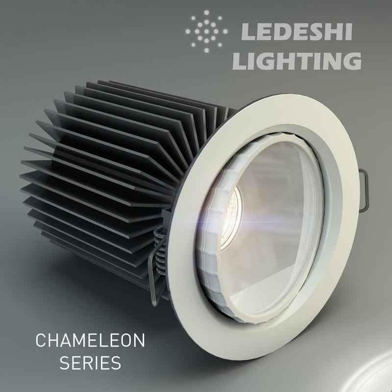 3d model ledeshi lighting led