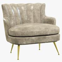 brabbu plum armchair 3d model
