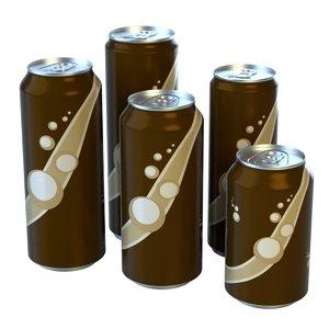 aluminum cans 3d fbx