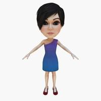 3d model hair dress