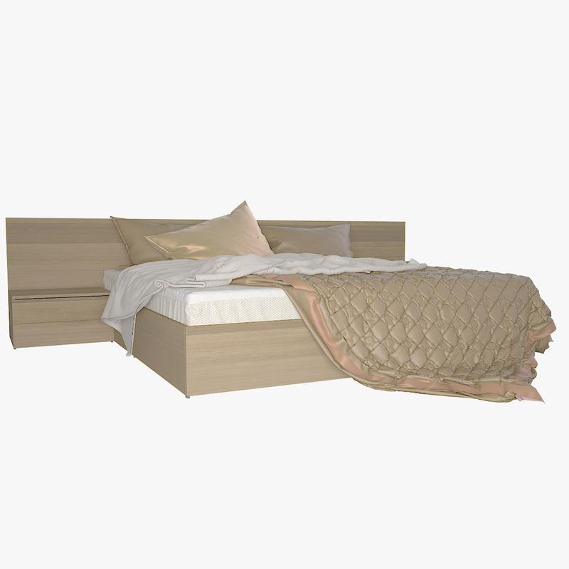 obj v-ray bed