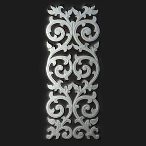 3d carved decorative model