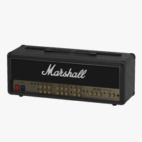 Guitar Amplifier Head Marshall 3D Model