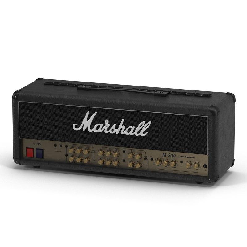3ds guitar amplifier head marshall