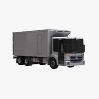 3d mercedes econic box truck model