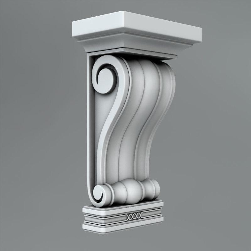 classical decoration ornamental 3d c4d