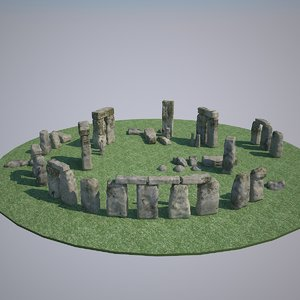 stonehenge stone henge 3d max