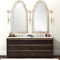 bathroom furniture bezier vanity 3d model