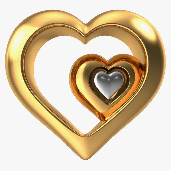 3d heart gold v5