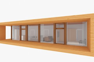 3d model of modern house 159 sq