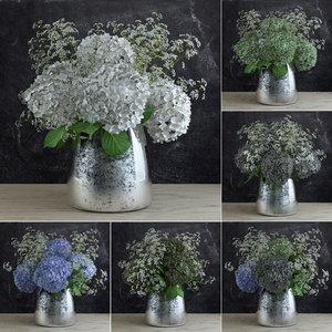 3d gypsophila bouquet model