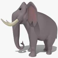 elephant cartoon 3d model