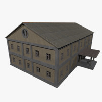 3d model of factory building -