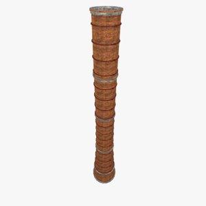 brick chimney factory - 3d model