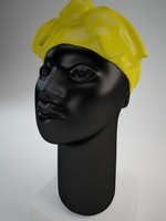 African Woman Head Scultpure