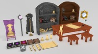 Minecraft Library models: (Middle Age) pack #2