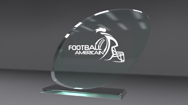 glass award 3d obj