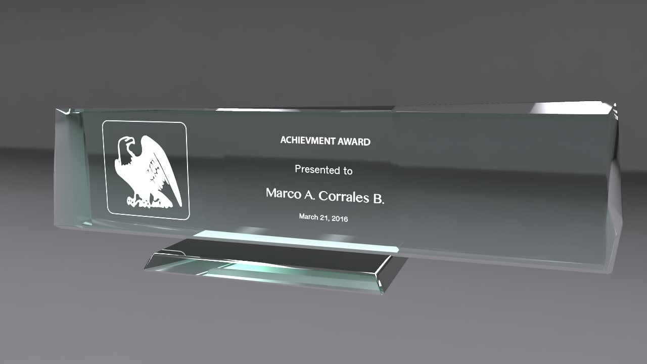 3d model glass award