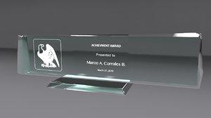 3d model glass award