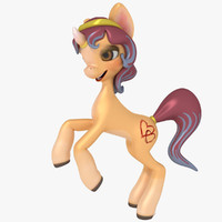 3d model unicorn cartoon
