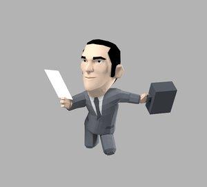 3d cartoon business man