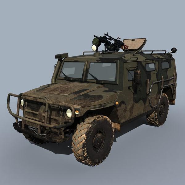 3d gaz-233014 sts tigr model