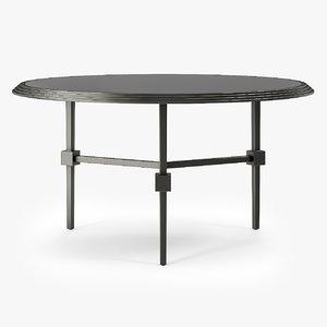 emblem table black 3d model