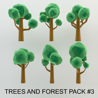 High quality Low Poly Cartoon Trees and forest pack #3 (AC-pack)