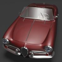 3d model 1960 alfa romeo giulietta